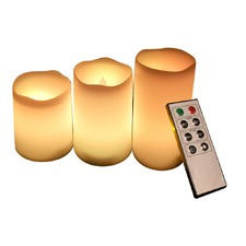 Set of 3 Flameless LED Candles