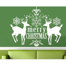 Wall Art Decal - Merry Christmas Deer