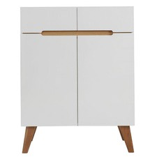 Finn Scandinavian Highboard with 2 Drawers 2 Doors