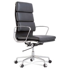 Eames Premium Leather Replica High Back Soft Pad Management Office Chair