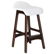 Erik Buch Replica Walnut Wood Bar Stool