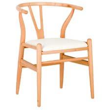 Hans Wegner Replica Wishbone Chair with Padded Seat