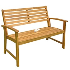 Vigo 2 Seater Outdoor Timber Bench