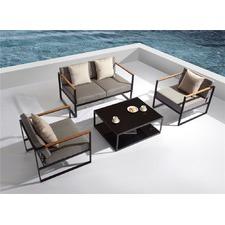 4 Piece Santorini Deluxe Outdoor Lounge Set