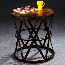Industrial Wire Side Table