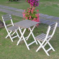 Bilbao 3 Piece Acacia Square Foldable Bistro Set