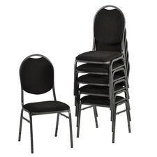 Stackable Fabric Banquet Conference Chair (Set of 6)