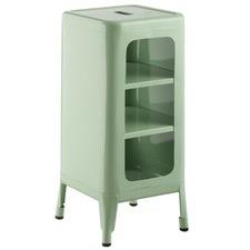 Green Replica Tolix Storage Cabinet
