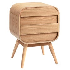 Hugo Bedside Table 2 Drawer Scandinavian Style