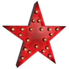 Red 'Star' Vegas Marquee Light