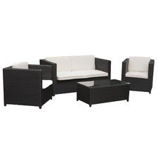 4 Piece Sorrento PE Wicker Lounge Set