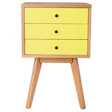 Torsby Spritz Scandinavian 3 Drawer Bedside Table