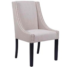 Taupe Oatmeal Brighton Upholstered Dining Chair