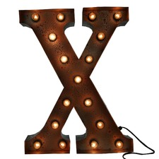 Rust 'X' Vegas Marquee Light
