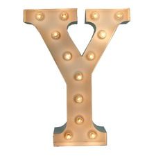 White 'Y' Vegas Marquee Light