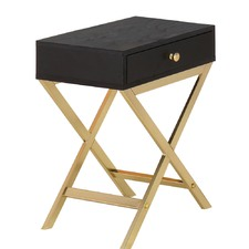 Black & Gold Marilyn Bedside Table