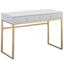 White & Gold Grace Desk