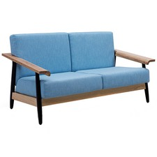Blue Elsa Scandinavian 2 Seater Sofa