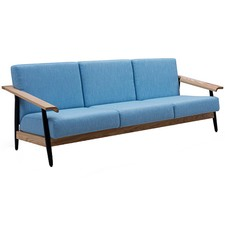 Blue Elsa Scandinavian 3 Seater Sofa