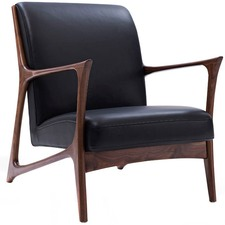 Black & Walnut Joakim Scandinavian Armchair