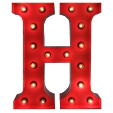 Red 'H' Vegas Marquee Light