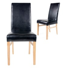 Set of 2 Black Benett Dining Chairs