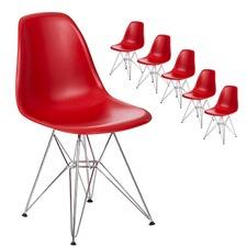 Eames Reproduction Eiffel Base Plastic Side Chair (Set of 6)