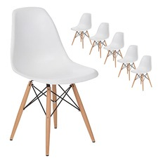 Eames Replica DSW Dining Side Chairs (Set of 6)