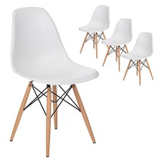 Eames Replica DSW Dining Side Chairs (Set of 4)