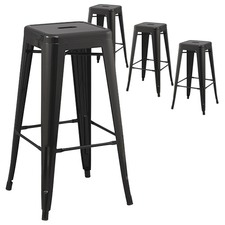 Tolix Replica 76cm Bar Stool (Set of 4)