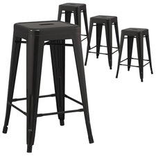 Tolix Replica 66cm Bar Stool (Set of 4)