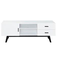White 2 Drawer Vasby TV Unit