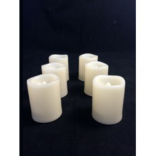 Set of 6 Flameless LED Ivory Candles