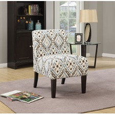 Abstract Blue & Black Ollano Accent Chair