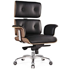 office leather chair. Eames Premium Leather Replica Executive Office Chair E
