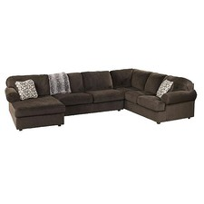 Chocolate Jessa Corner Sofa & Right Chaise