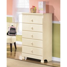 5 Drawer Cream Cottage Retreat Tallboy