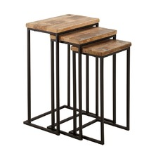 Brown & Black Marxim Nesting Side Table Set