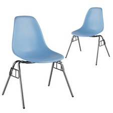 Replica Eames DSS Plastic Stacking Side Chairs (Set of 2)