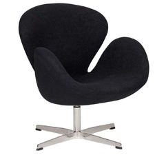 Arne Jacobsen Wool Replica Swan Chair