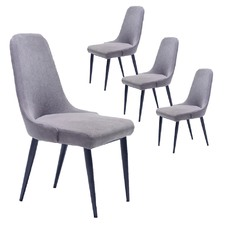 Grey & Black Norway Dining Chairs (Set of 4)