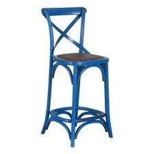 Antique Blue Bella 65cm Crossback Bar Stool