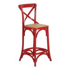 Red Bella 75cm Crossback Bar Stool