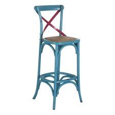 Turquoise & Magenta Bella 75cm Crossback Bar Stool
