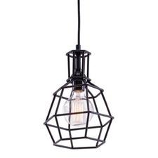 Geometric Industrial Workshop Cage Pendant Light