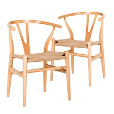 Hans Wegner Replica Wishbone Chair (Set of 2)