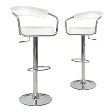 Azzuro Adjustable Suspended Back Swivel Bar Stool (Set of 2)