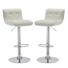 Milo Ultra Comfort Mid Back Swivel Barstools (Set of 2)