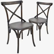 Cross Provincial Rustic Dining Chairs (Set of 2)