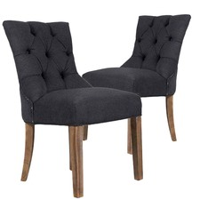 Grey York Upholstered Dining Chairs (Set of 2)